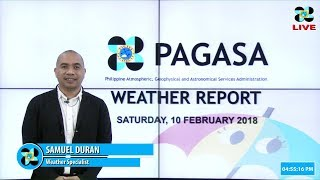 Public Weather Forecast Issued at 4:00 PM February 10, 2018