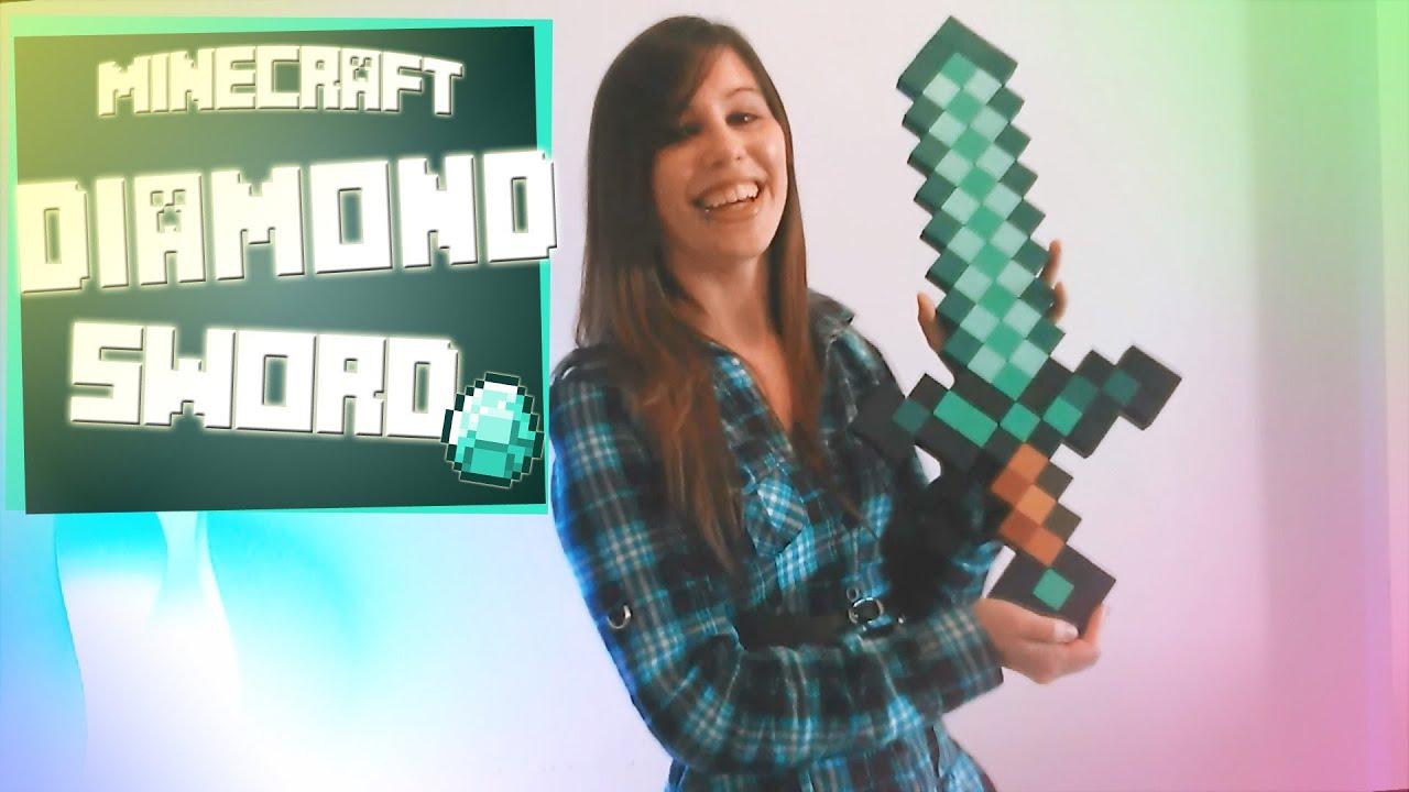 Espada de Diamante Minecraft  Guia Paso a Paso Crafting