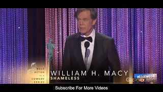 William H Macy (Actor) Speech  at The 23rd Annual Screen Actors Guild Awards 2017 by Hollywood Clips Video