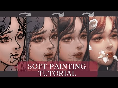 [Medibang] Soft painting + Brush settings – TUTORIAL + SPEEDPAINT