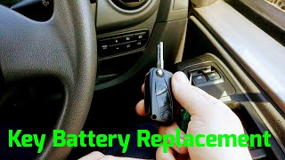 Citroen Nemo/Bipper/Fiorino key battery replacement