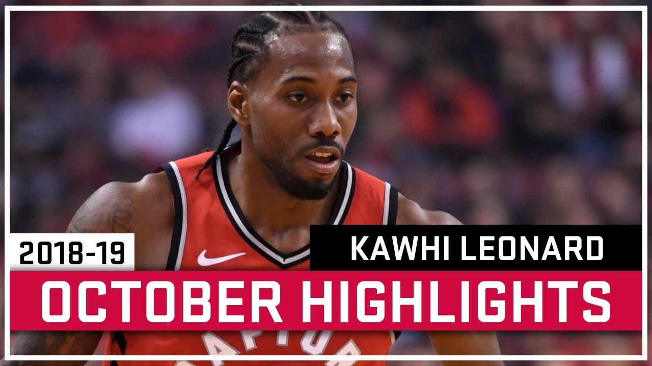 4c8b1c3e2 Kawhi Leonard Full October 2018-19 Highlights - Toronto Raptors ...