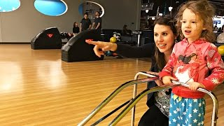 Family Bowling + Mike Gets a Manly Pedicure! DisneyCarToys Family Vlog on Sandaroo