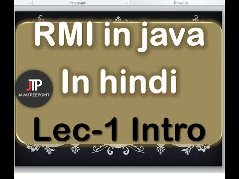 RMI in java in hindi lec-1 Introduction