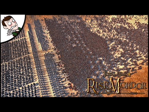 MASSIVE 20000 GONDOR v HARAD SURVIVAL BATTLE! Rise of Mordor Gameplay (Total War Attila Mod)