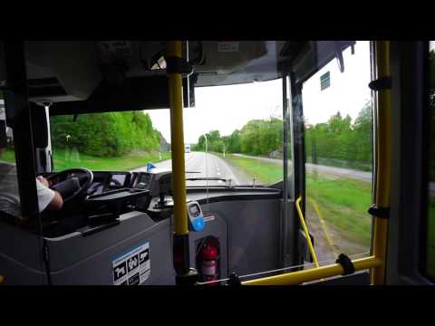 Sweden, Stockholm, ride with bus No. 865 from Haninge Centrum to Flemingsberg train station