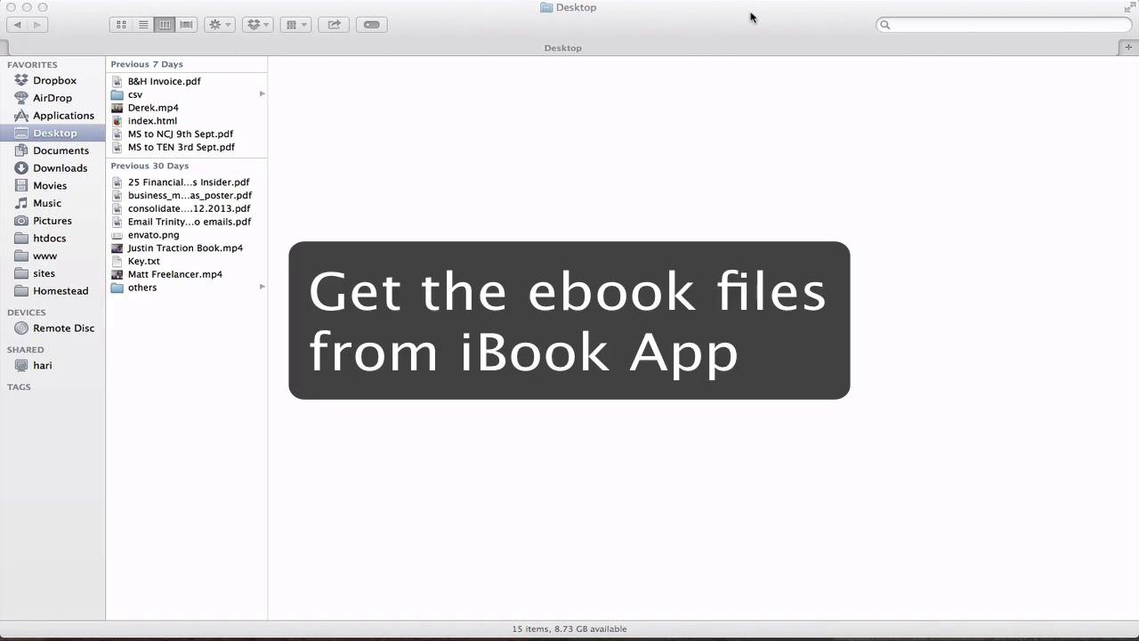 [solved] Find Ibook Folder Location Or Get Files From Ibook App?