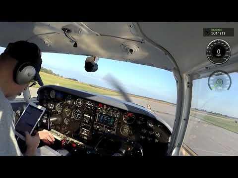 Piper Comanche 250 going to KDBQ