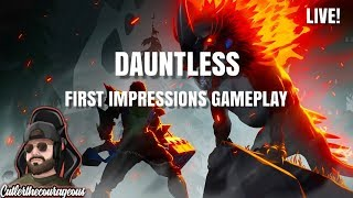 DAUNTLESS, First impressions, Gameplay, Live, Brand new game by EPIC GAMES.