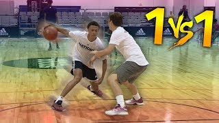 1 V 1 VS TOP HIGH SCHOOL #1 PG RJ HAMPTON (CRAZY HANDLES)