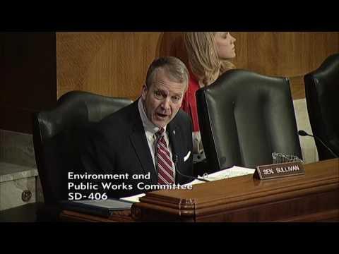 Sen. Dan Sullivan (R-AK) at a Senate Environment & Public Works Hearing - February 1, 2017