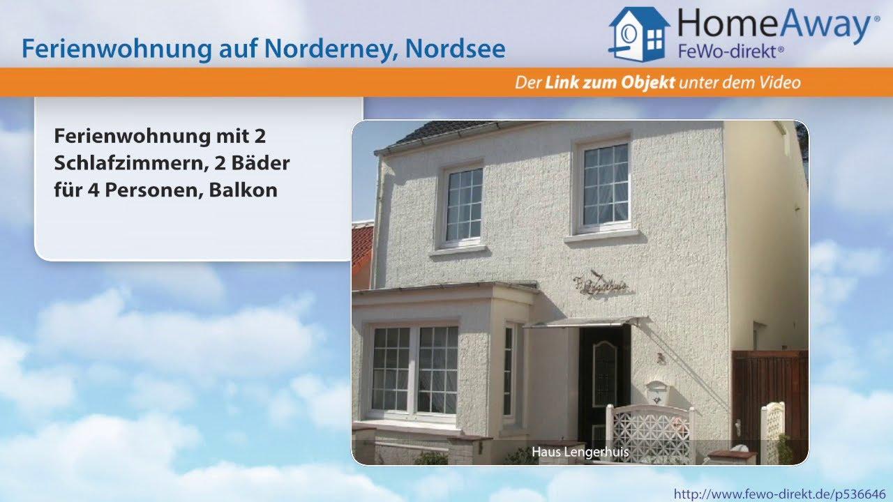Norderney: Ferienwohnung mit 2 Schlafzimmern, 2 Bäder für 4 ...