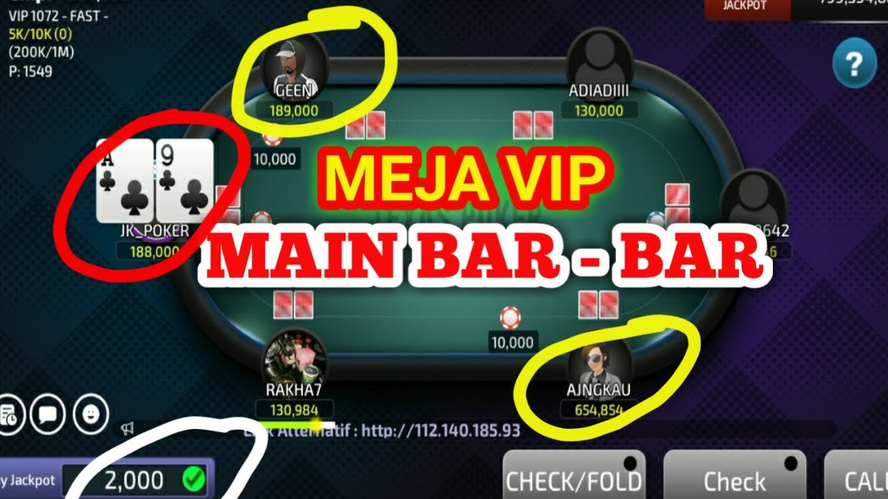 Main Bar Bar Di Meja Vip Poker Online Youtube