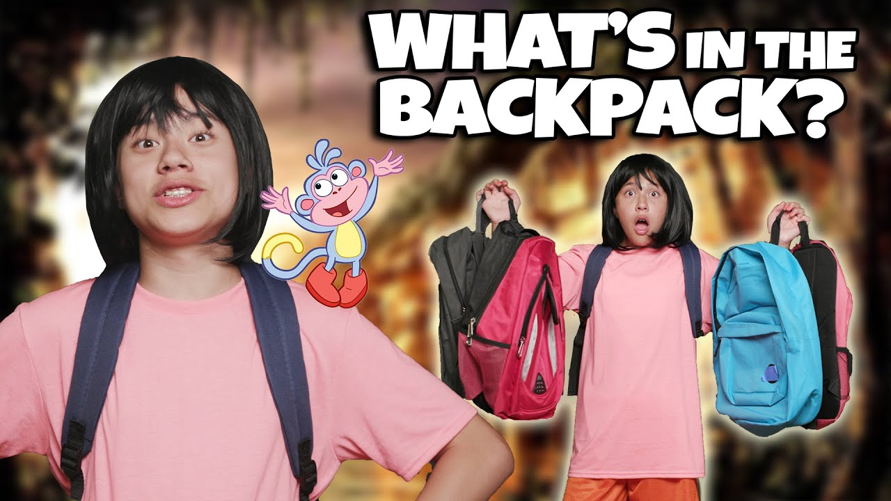 TUBES TRY! Whats in the Box Challenge - Dora the Explorer Backpack Edition