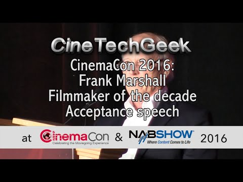 CC16 Frank Marshall - Filmmaker of the decade acceptance speech