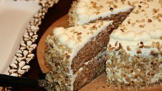 Recette Gâteau Aux Carottes & Noix - Carrot & Walnut Cake Recipe - Recettes Maroc