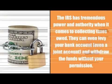 Can the IRS place a Bank Levy on Joint Accounts? Tax Help Chicago