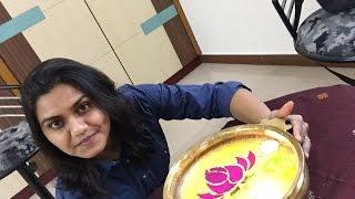 Floating Rangoli - How to make rangoli on water
