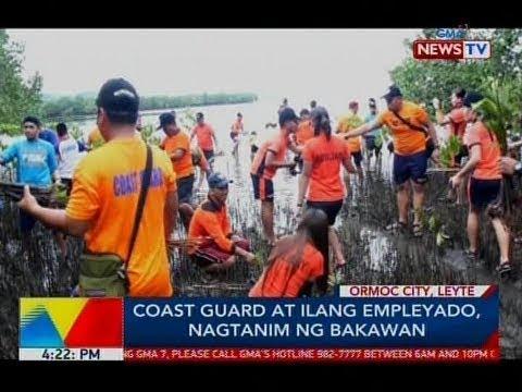 BP: Coast guard at ilang empleyado, nagtanim ng bakawan