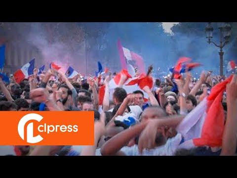 Mondial 2018 : Ambiance dans la fan zone de Paris (10 juillet 2018, Paris)