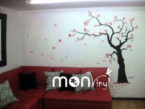 Vinilos decorativos fotos de montajes youtube - Vinilos decorativos para pared infantiles ...