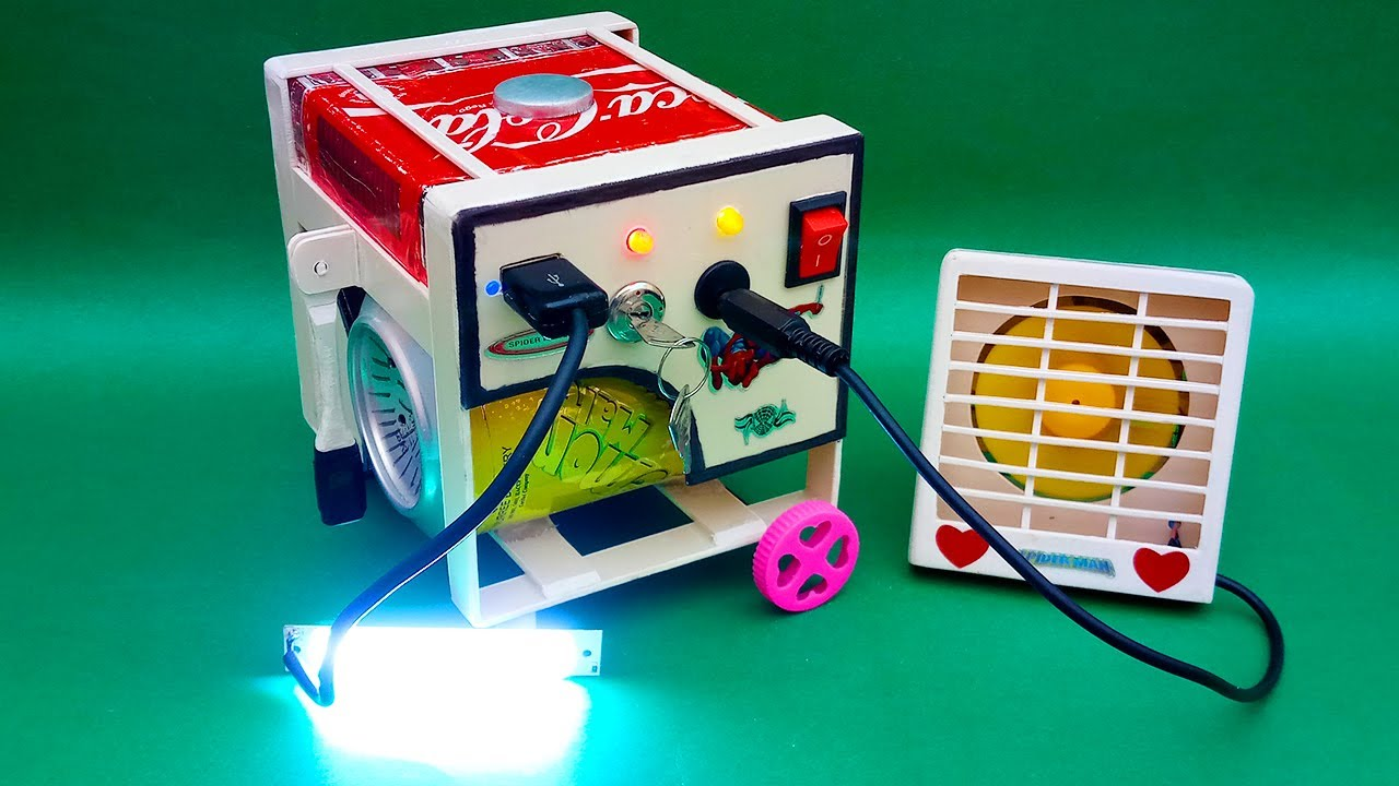 Download How To Make A Electric Generator Model | Generator Model Science Project| Mini Generator | Generator