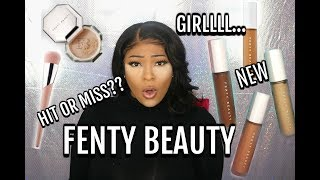 Makeup Brands Are Shook | New Fenty Beauty Pro Filt'r Concealer & Setting Powder | Review & Demo