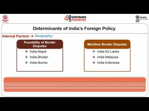 Determinants of Indias Foreign Policy