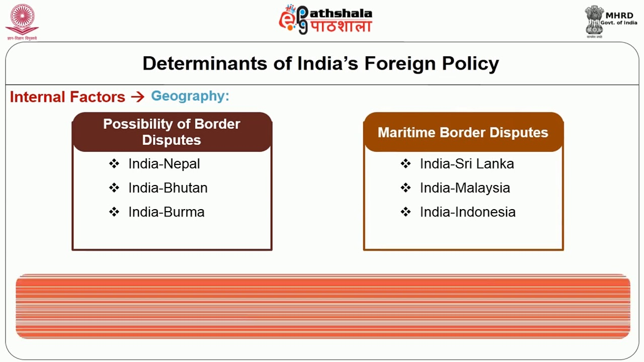 """determinants of foreign policy """"our foreign policy is one of the friendliness and goodwill towards all the nations of the world we do not cherish aggressive designs against any country or nation."""
