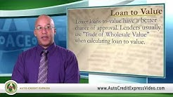 Bad Credit Auto Loan Terminology - Loan to Value