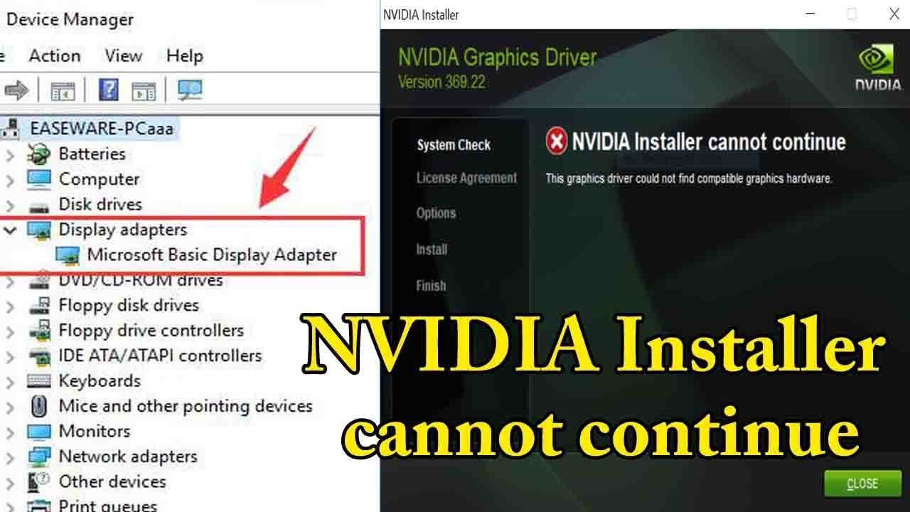 nvidia installer cannot continue 100% working|How to update your Graphics  Card Drivers Windows7,10
