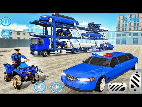 US Police Limousine Car Quad Bike Transporter - Best Android Gameplay