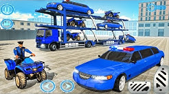 US Police limousine Car Quad Bike Transporter - Best Android Gameplay