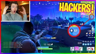 REACTING TO THE MOST ADVANCED HACKERS in FORTNITE: BATTLE ROYALE