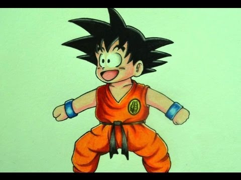 Como Dibujar A Goku Nino Youtube