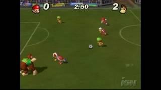 Super Mario Strikers GameCube Gameplay - Goal for
