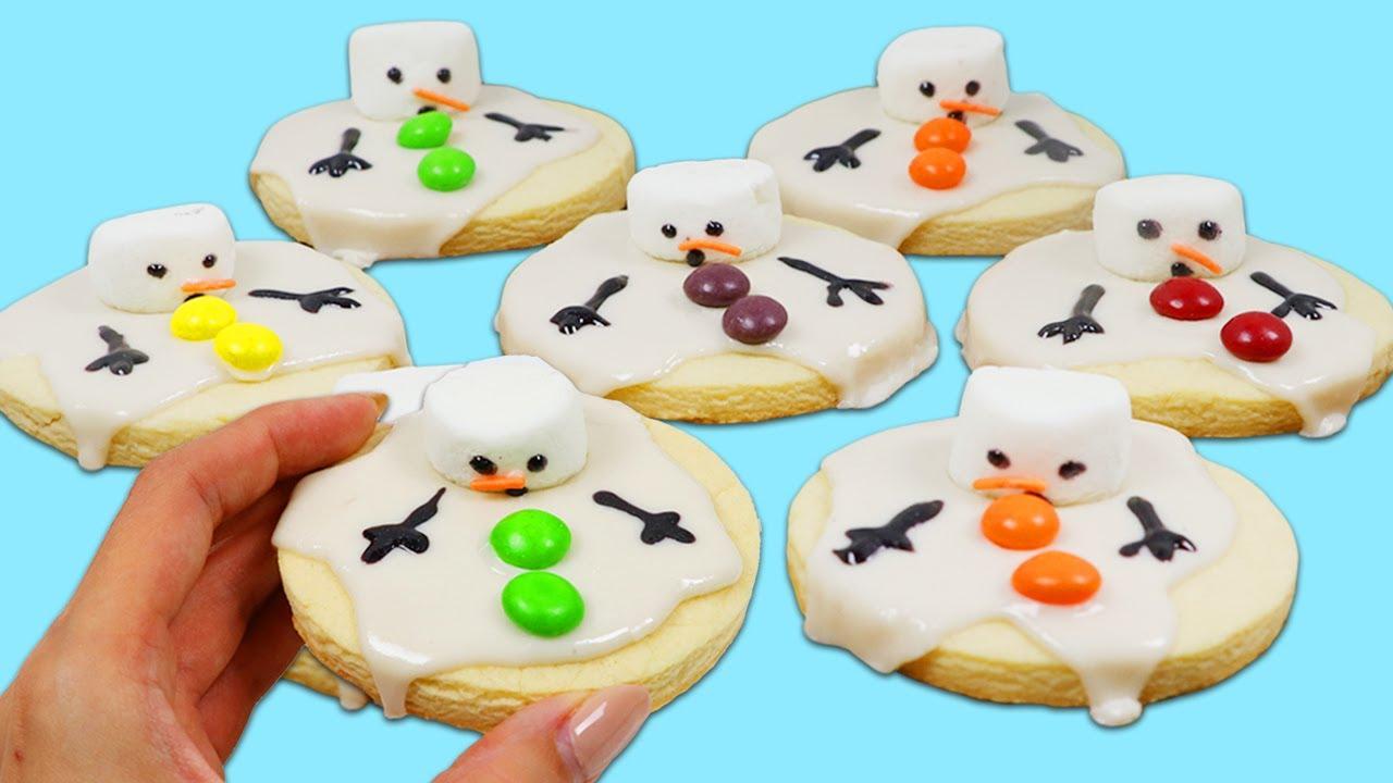 Как приготовить милое и вкусное печенье со снеговиками.  Легкие и забавные угощения, которые можно попробовать дома!