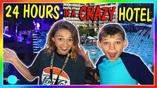 24 HOURS AT A CRAZY HOTEL! 😆| We Are The Davises