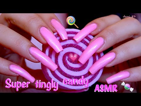 💗 Perfect for Sweet Dreams! 😴 Binaural ASMR 💖 Nail-SCRATCHING & TAPPING 🍬 a SOFT pink CANDY SOAP! 🍭