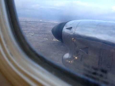 Flying in Embraer Brasilia 120 Turboprop (KPSP~KLAS)