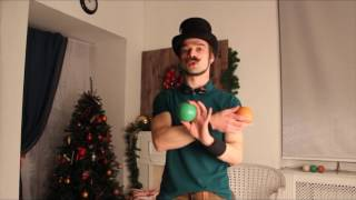 Урок 3. Жонглирование 3 мячами. Павел Горский.