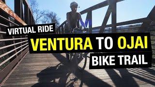 Ventura to Ojai Bike Path (BEST BEGINNER BIKE TOURING ROUTE!)