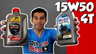 Ipiranga Top Rider e Mobil Extreme SAE 15W50 4T JASO MA2 - Review e um pouco mais!!!