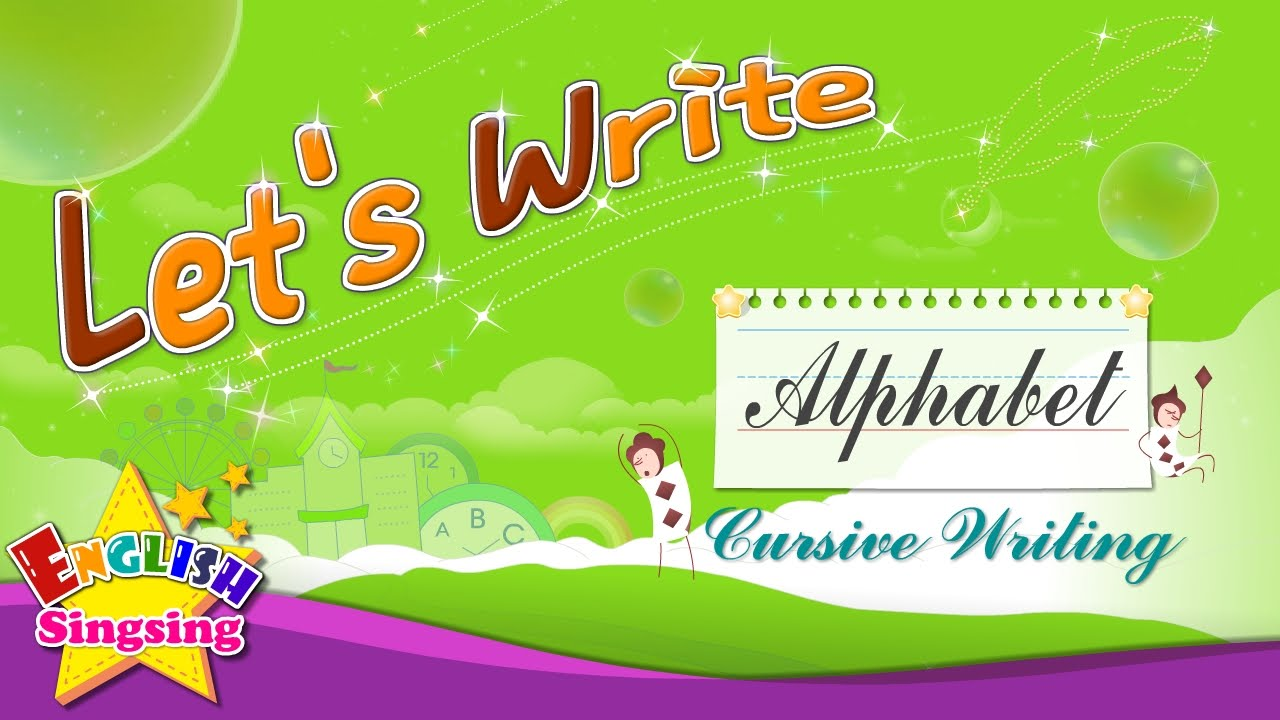 Worksheets Pinakatay Alphabet lets write cursive writing alphabet a to z how abc for kids