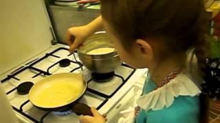 Видео рецепт БЛИНЫ С МЕДОМ от Вовк Валерии