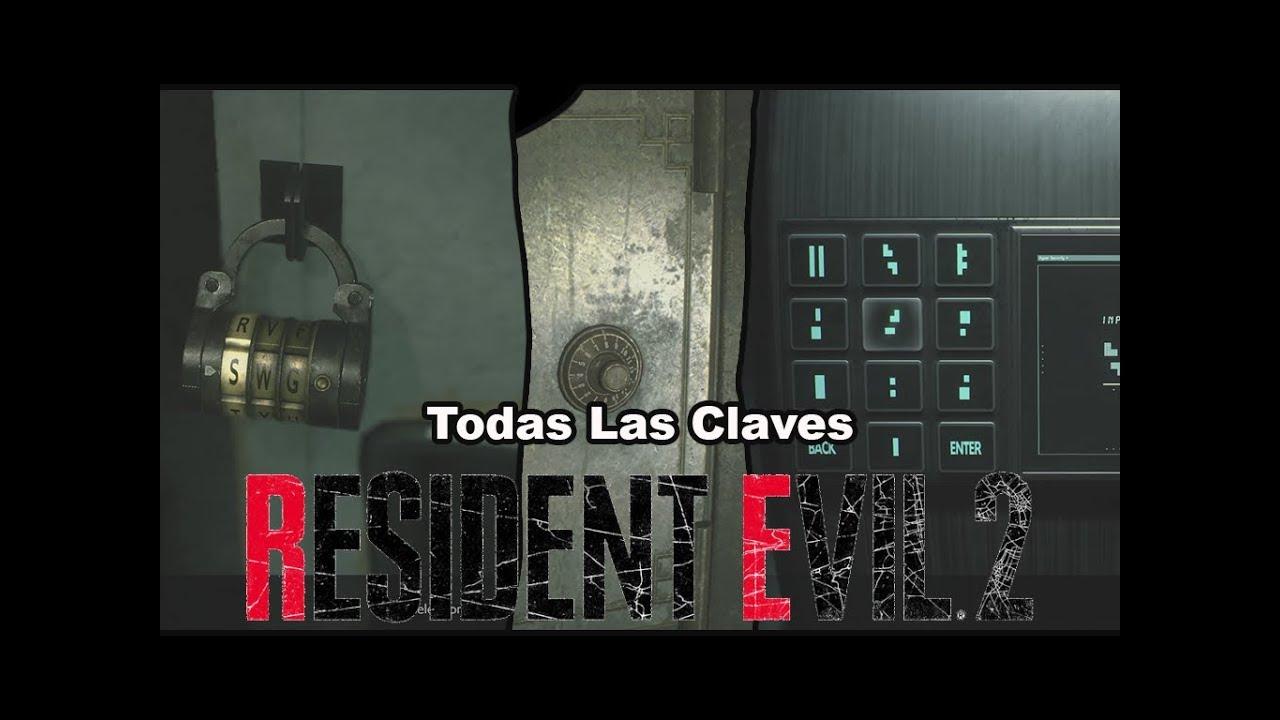 clave de caja fuerte resident evil 2 remake
