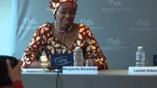 23/11/2011 - Conférence de presse avec Marguerite Barankitse et Louise Arbour