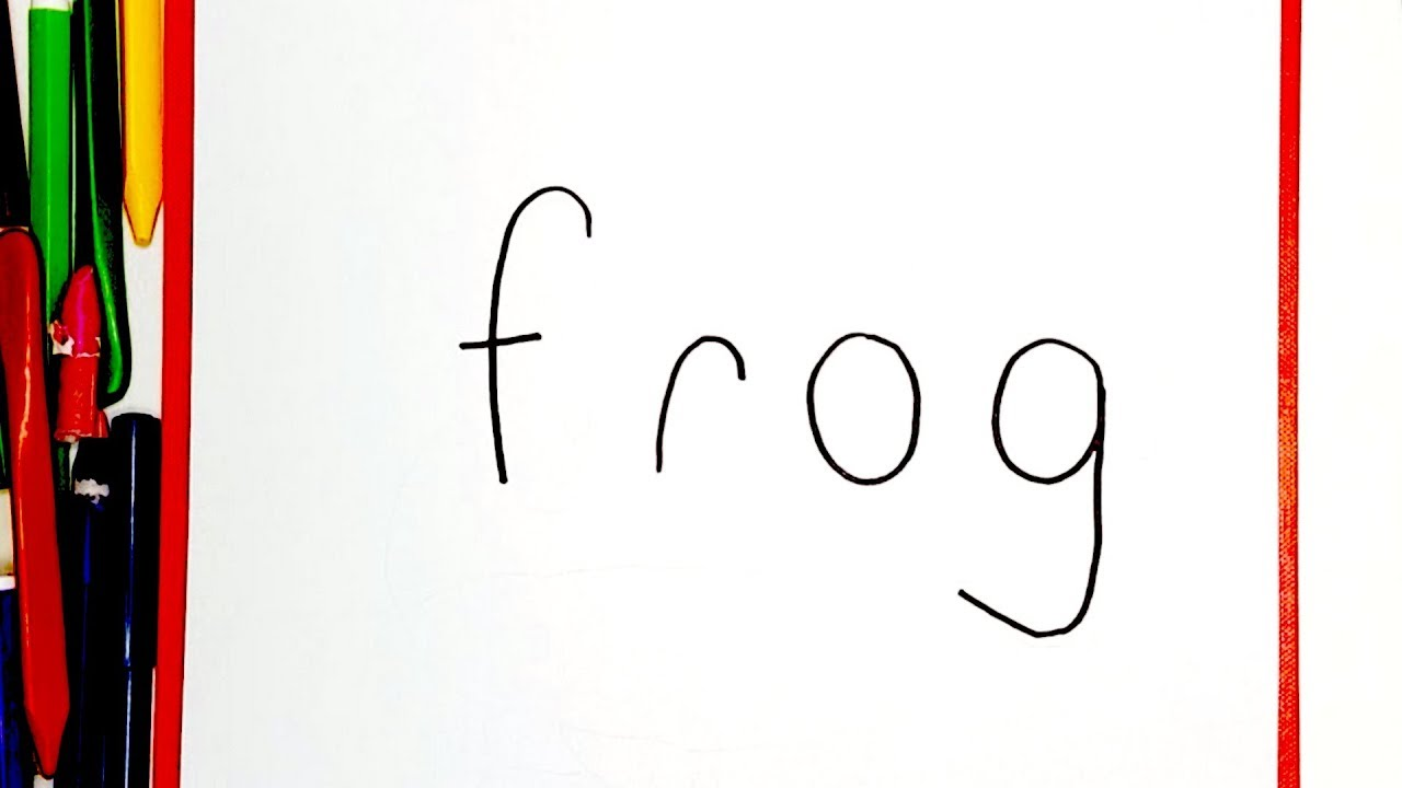 Very Easy How to turn words FROG into a Cartoon. How to ...
