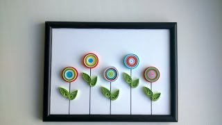 DYI Quilling: We make simple quilling picture [Creative Paper ]