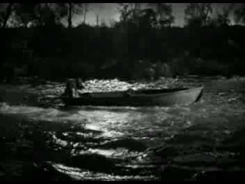 la noche del cazador mujer en el río